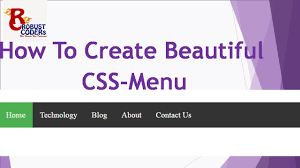 how to create menu in html css html css menu create navigation