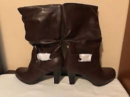 womens fashion boots size 11 brown patent leather fashion boots s size 11 mid calf