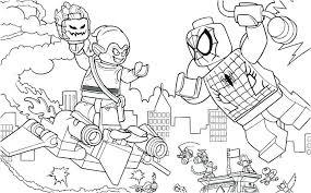 Coloriage Lego Marvel Super Heros Coloriage Lego Spiderman A