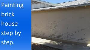 painting brick house youtube