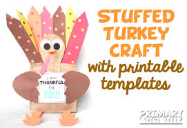 free thanksgiving paper paper bag turkey craft primary theme park