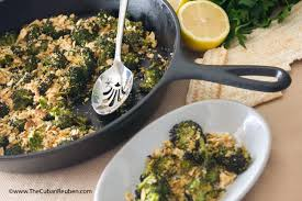 matzos for passover roasted broccoli florets with lemon garlic matzo crumbs kicking