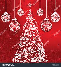 swirly white christmas tree balls stock vector 116734435