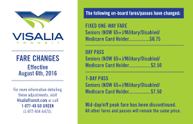 city of visalia fares passes