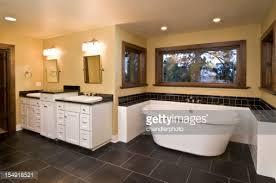 Sunken Bathtub Modern Bathroom With Sunken Bathtub Stock Photo Getty Images
