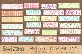 watercolor washi tape illustrations creative market