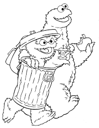 sesame street characters coloring sheet 1st