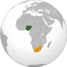 map of nigeria africa nigeria south africa relations