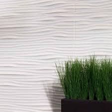 kitchen show details for fasade backsplash waves in matte white