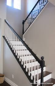 painted stair rails paint stairs stair railing and tutorials