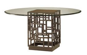 round glass top pedestal dining table tommy bahama round glass top pedestal dining table lexington furniture
