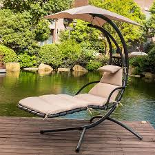 chair with umbrella hanging chaise lounge chair arc curved hammock