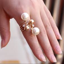 big fashion rings images Fashion ring gold jewelry two big imitation pearl ring rings for jpg