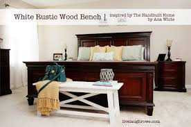 Annie Sloan Bedroom Furniture White Rustic Wood Bench Live Laugh Rowe