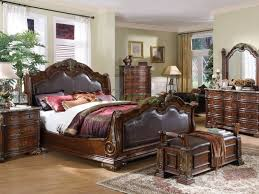 King Size Sleigh Bed Sleigh Bed Luxury Sleigh Bed King With Bench And Dresser For