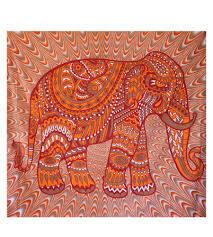 apple wallpaper elephant wall hanging red orange elephant tapestry vintage pockets apple