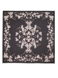 silk baby s breath lyst givenchy baby s breath printed silk shawl in black