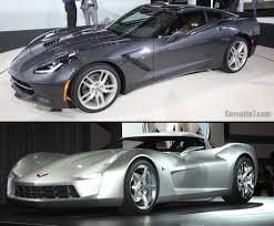 corvette stingray 2014 visual comparison of 2014 corvette stingray vs 2009 concept model