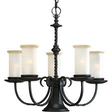 Progress Lighting 5 Light Chandelier Residential Lighting Chandeliers Black Lighthouse Supply