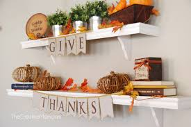 thanksgiving mantle or shelves in my the creative