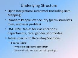 peoplesoft hrms tables list applicant management system erecruit overview human resource unit