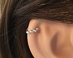 helix earing celtic cartilage earring silver cartilage earring helix