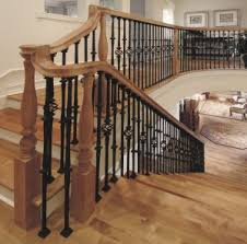 Fitting Banister Spindles Stair Makeover U2013 Replacing Wood Balusters With Wrought Iron