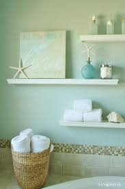 small bathroom ideas tile colors bright green wall shelves