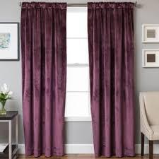 Plum Velvet Curtains Buy 63 Velvet Curtains From Bed Bath Beyond