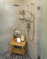 great mosaic tile bathroom shower with waterfall showers and bathroom large size great mosaic tile shower with waterfall showers and excerpt stone ideas