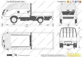 Cabin Blueprint The Blueprints Com Vector Drawing Kia K2700 Double Cabin