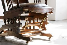 Antique Victorian Rocking Chair Sold 19th Century Victorian Glider In Oak And Brass Rehab
