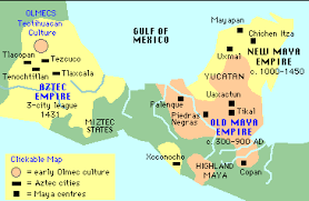 mayan empire map ancient mayan civilization map