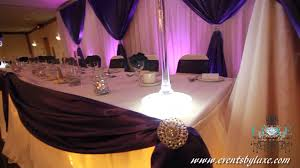 purple and white wedding white and purple wedding decor by luxe weddings and events