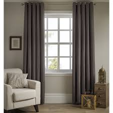 Lined Curtains Wilko Basketweave Eyelet Lined Curtains 228x228cm Mocha At Wilko Com