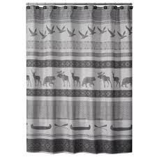 home decorators collection bath accessories bath the home depot gray wilderness calling fabric shower curtain