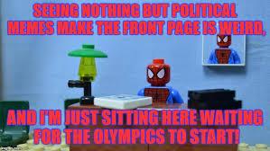 lego spiderman desk memes imgflip