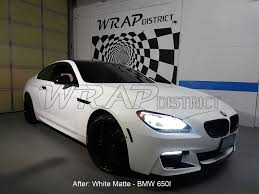 matte white bmw gallery wrap district