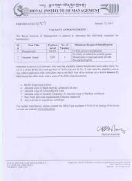 Security Guard Jobs With No Experience Tender U0026 Jobvacancy Royal Institute Of Management Page 4