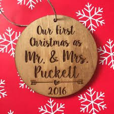 just married ornament wedding ornament personalized christmas