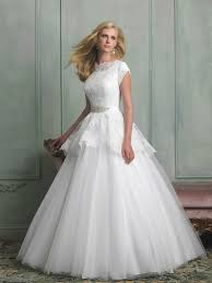 modest lace ball gown wedding dresses