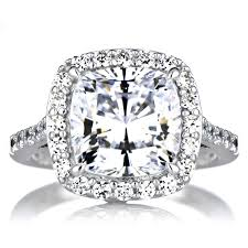 Jared Cushion Cut Engagement Rings Jewelry Rings Halo Engagement Rings Princess For Women Ring