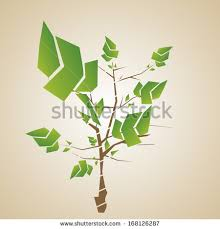 vector abstract stylish tree design isolated stock vector
