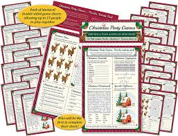 christmas party games table quiz and puzzle activities for family