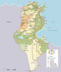 Physical Africa Map by Physical Map Of Tunisia Tunisia Physical Map Vidiani Com Maps