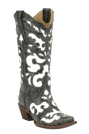 corral womens boots sale corral antique black white inlay boots cowboy boots