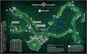 Map Of Dublin Ohio by Course Map The Memorial Tournament
