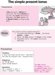 good grammar grade 8 grammar lesson 1 the simple present tense