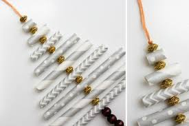 made tree ornament paper straws make do crew