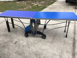 used outdoor ping pong table used cornilleau hobby 140 outdoor ping pong table tennis beer